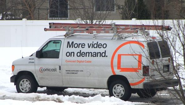 Xfinity Comcast Cable TV service truck. Photo courtesy of Wikipedia