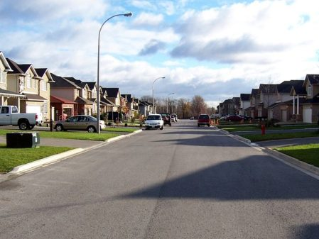 Typical Suburban street view. Courtesy of Wikipedia