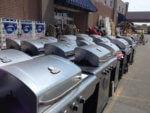 Rows and rows of gas grills at suburban stores. Photo courtesy of Ray Hanania