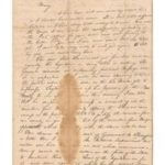 Original Letter from Alexander Hamilton to Eliza Schuyler, 1780, from Seth Kaller Inc., on view at the Chicago Antiques + Art + Design Show, May 18-21, 2017.