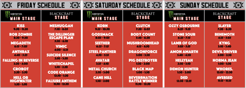Open Air COncert 2017 performance schedule