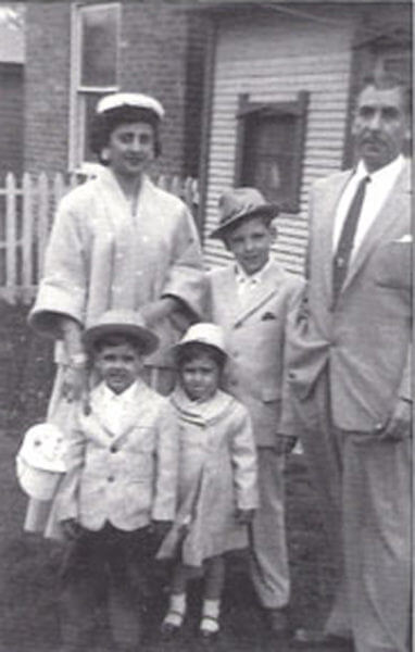 Ray Hanania and family Easter 1957.