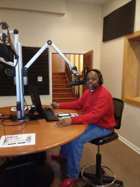 Activist Mark Allen in studio