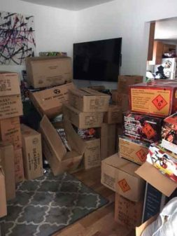 Fireworks Confiscated by Cook County Sheriff Tom Dart. Photo Courtesy of the Cook County Sheriff