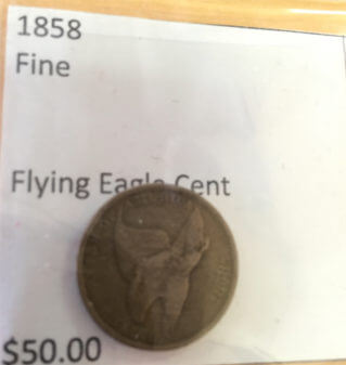 1858 Flying Eagle Penny. Photo courtesy of Ray Hanania