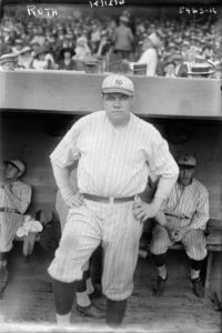 English: American baseball player Babe Ruth in 1921 (Photo credit: Wikipedia)