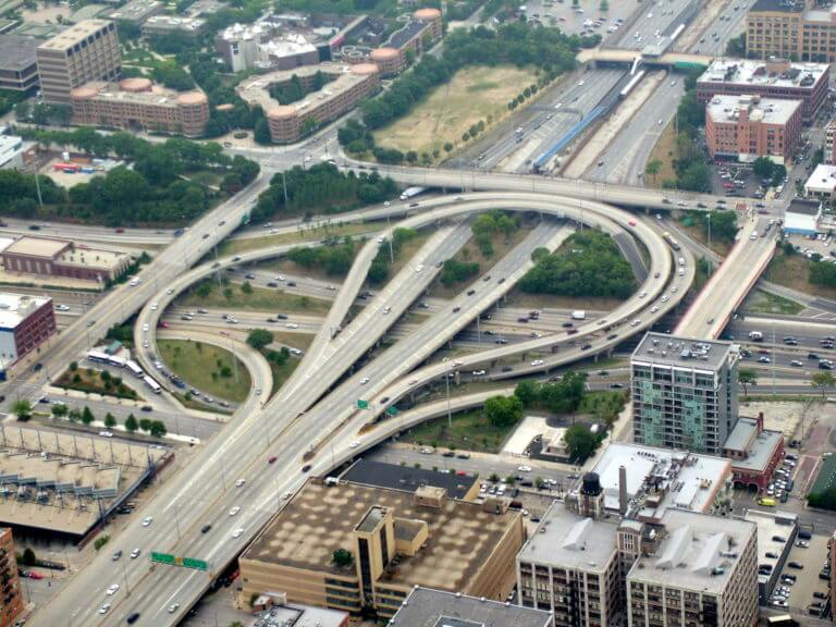 The Circle Interchange (officially the Jane Byrne Interchange) is a major freeway interchange near downtown Chicago, Illinois. It is the junction between the Dan Ryan, Kennedy and Eisenhower Expressways (Interstate 90/Interstate 94 [I-90/I-94] and I-290), and Congress Parkway. In a dedication ceremony held on August 29, 2014, this interchange was renamed in honor of former Chicago Mayor Jane M. Byrne (1979–1983).