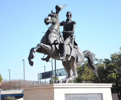 English: A photo of the Andrew Jackson statue ...