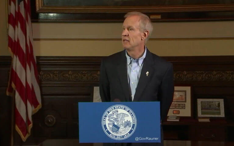 Gov. Bruce Rauner vetoes legislation that would force suburban taxpayers to pay for waste and corruption at the Chicago Public Schools. The bill would take the majority of school funding from the suburbs and earmark it to bailout Chicago Public Schools, which are in debt to the amount of more than $17 billion. Photo courtesy of Governor Rauner