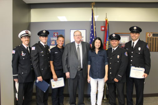 Orland First responders honored by cardiac arrest survivor