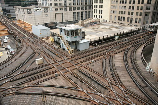 English: Cross junction in the northwest corner of the Loop in Chicago. (Photo credit: Wikipedia)