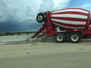 Road construction cement truck. Photo courtesy of Ray Hanania