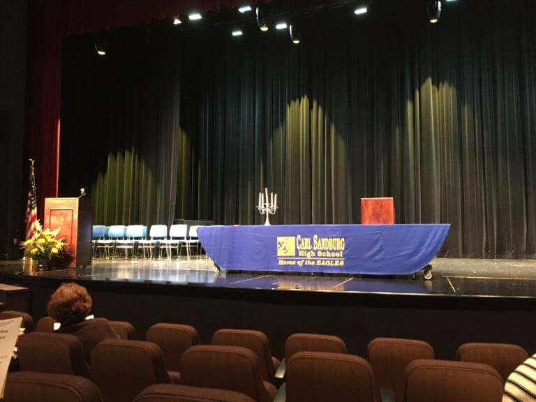 Carl Sandburg High school National Honor Society Induction Oct. 24, 2017. Stage before ceremony
