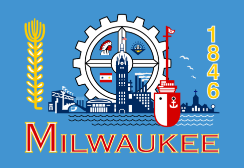 Flag of Milwaukee, Wisconsin (Photo credit: Wikipedia)
