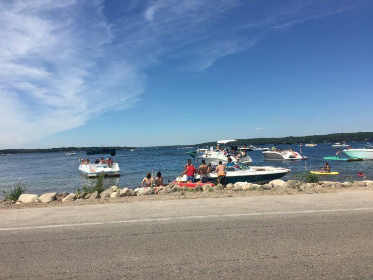 Boats at Lake Geneva, Wisconsin. Photo courtesy Ray Hanania
