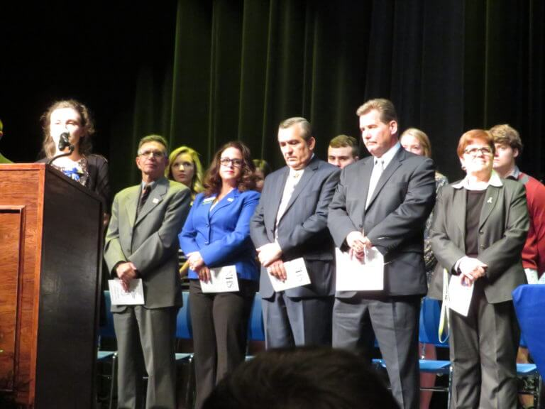 Video: Sandburg inducts National Honor Society students