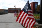 Flags in Public Plaza. Photo courtesy of Ray Hanania