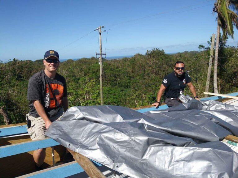 Cicero Chaplain Ismail Vargas returned from Puerto Rico after volunteering for more than a week to help people whose homes were damaged or destroyed by Hurricane Maria. Photo courtesy of Ismail Vargas