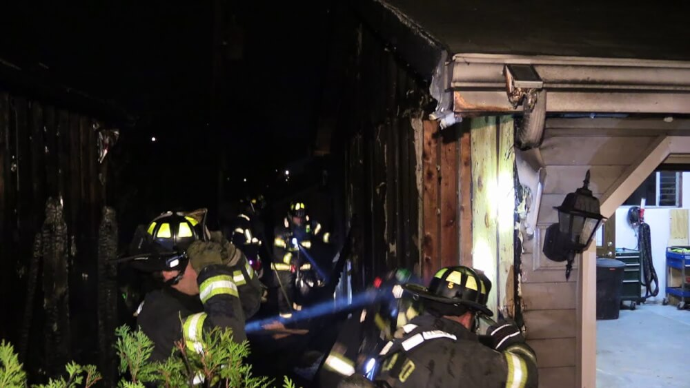 Two garage fires reported in Orland Park, Friday Nov. 24, 2017. Photos courtesy of the Orland Fire Protection District