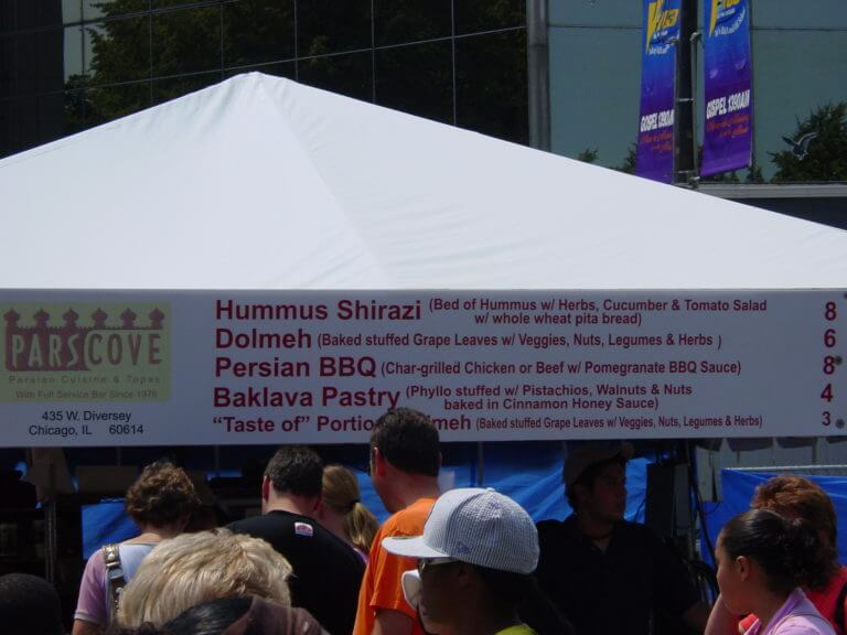 Taste of Chicago food tent, 2006. Photo courtesy of Ray Hanania