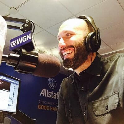 WGN AM 720 Radio Talkshow host Justin Kauffman