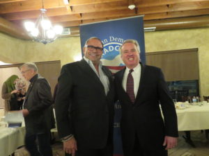 Ziyad Brothers Importing owner Nemer Ziyad poses with Christopher Kennedy at the AADC Fundraiser in Worth Illinois November 8, 2017.
