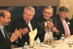Arab American Democratic Club Chairman Samir Khalil with Christopher Kennedy, former Palos Heights Mayor Dean Koldenhoven, and former Lyons Mayor Ken Getty. Photo courtesy of Steve Metsch