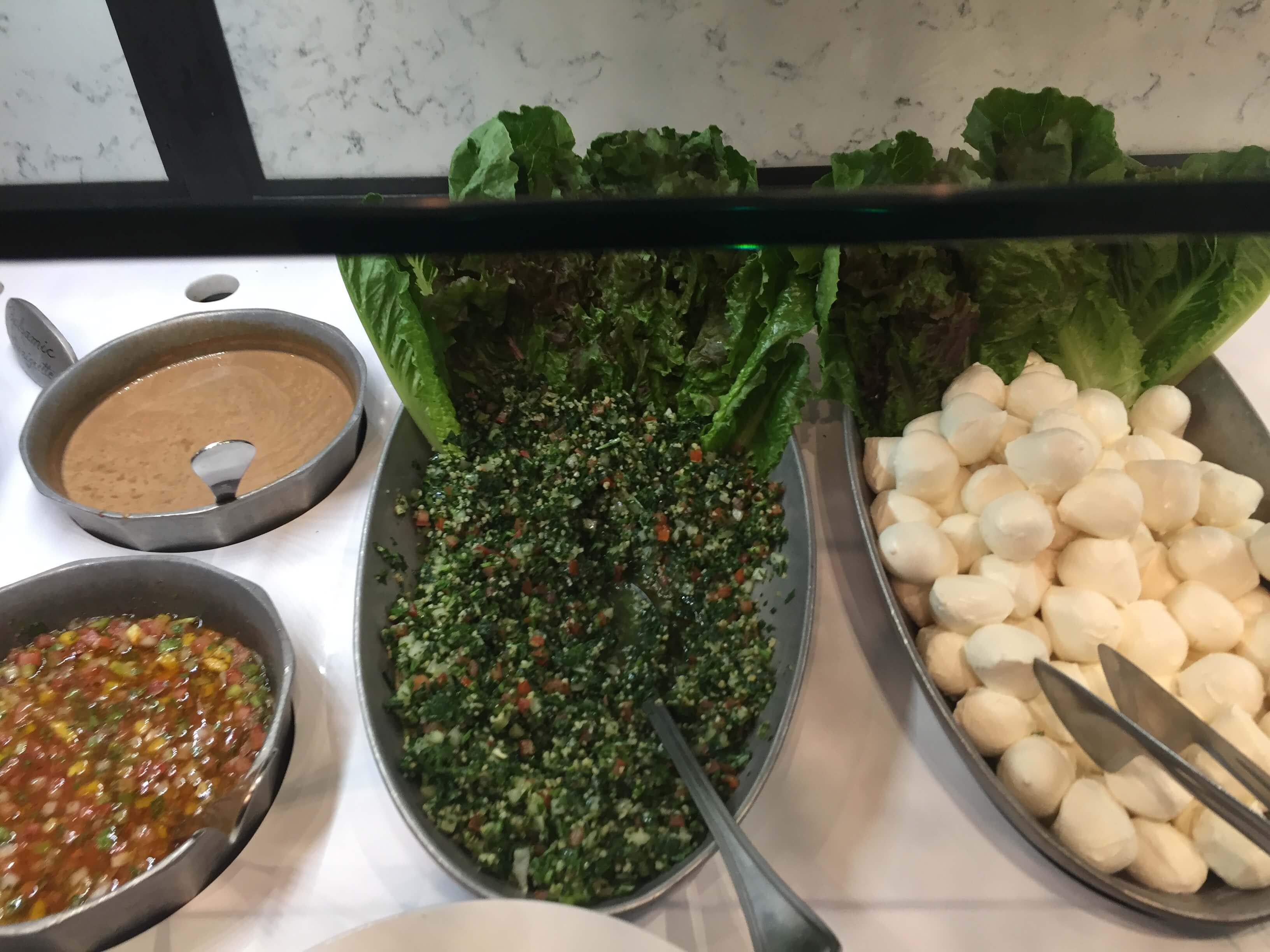 Tabouli salad at the Texas de Brazil rest Woodfield Mall