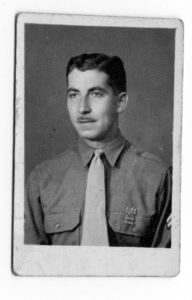 George Hanania in U.S. Army uniform. Photo courtesy of Ray Hanania