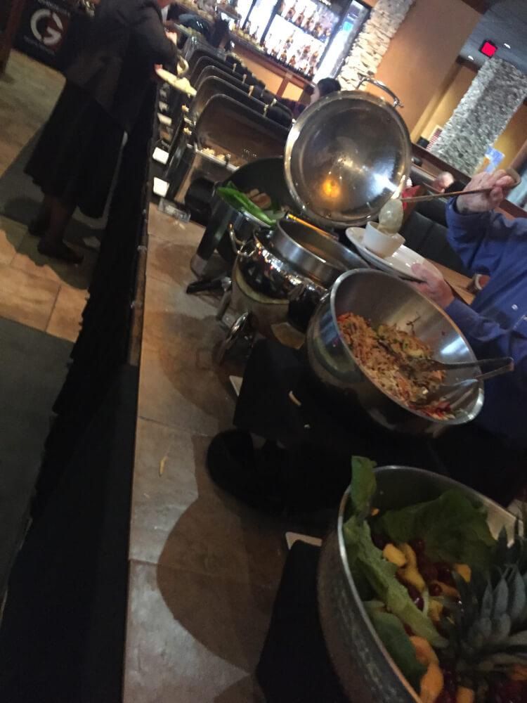 Granite city buffet table