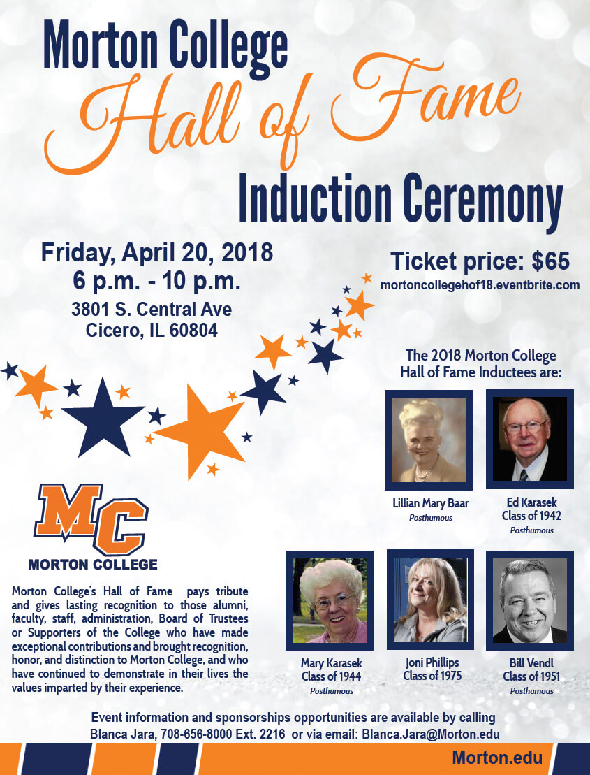Alumni celebrities at Morton College to be feted April 20