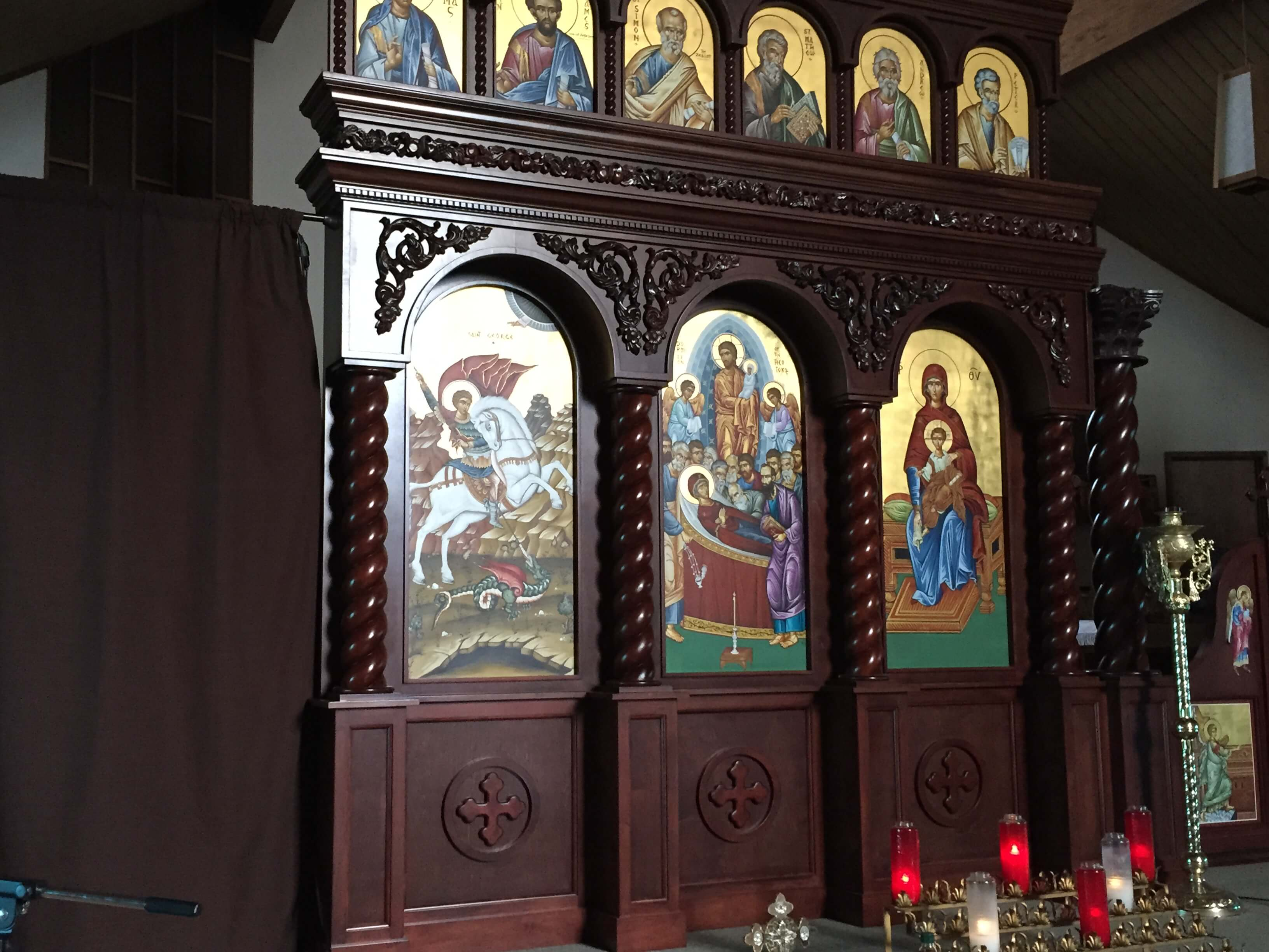 Icons of Saints of the Christian Orthodox Church. Photo courtesy of Ray Hanania