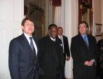 English: Rod Blagojevich, Emil Jones and Jeffrey Schoenberg at Illinois Executive Mansion (Photo credit: Wikipedia)