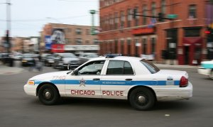 Police car, this one from Chicago. Photo courtesy WIkipedia