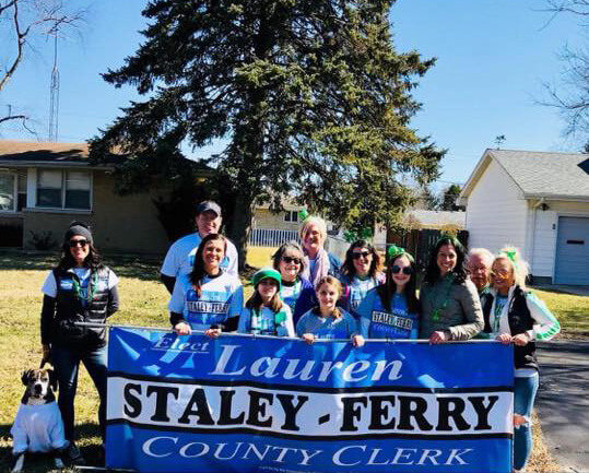 Lauren Staley-Ferry, Will County Board member and candidate for Will County Clerk in the March 20, 2018 Democratic Primary election