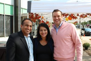 Summit Mayor Sergio Rodriguez, State Rep. Silvana Tabares and Lyons Mayor and Township Supervisor Christopher Getty at the Lyons Township Democratic Party Fall Festival Sept 10, 2017