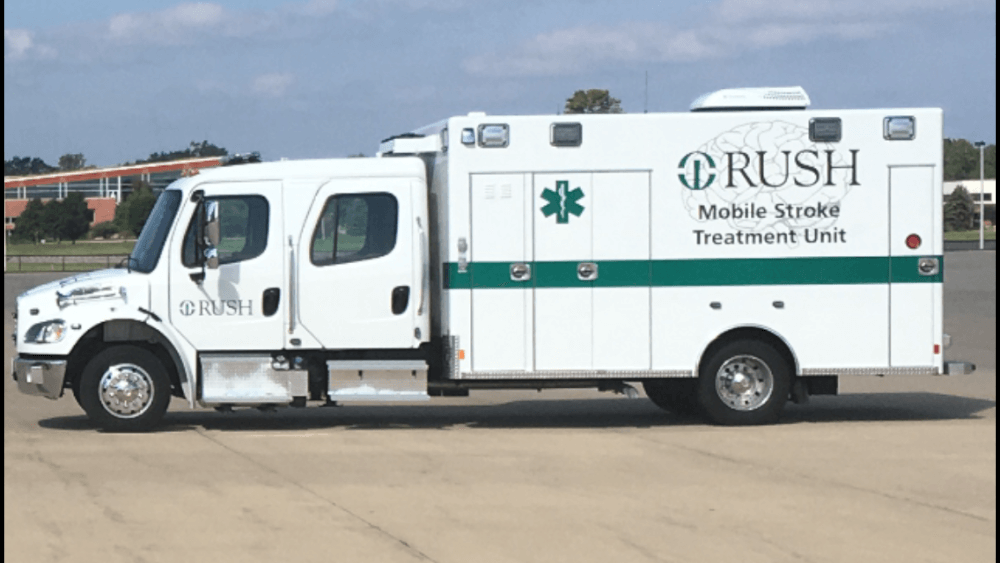 Mobile Stroke Unit from Rush Hospital available to Cicero residents. Photo courtesy of the Town of Cicero