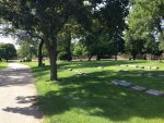 Oak Woods Cemetery view north side. Photo courtesy of Ray Hanania