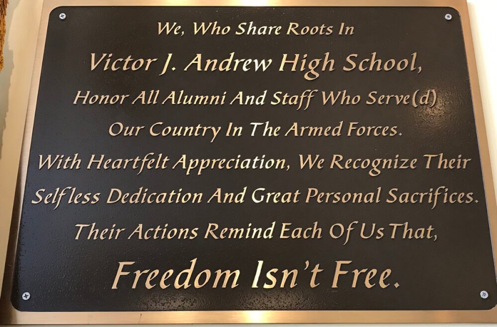 Victor J. Andrew High school in Tinely Park celebrated the service of its former students for Memorial Day 2018