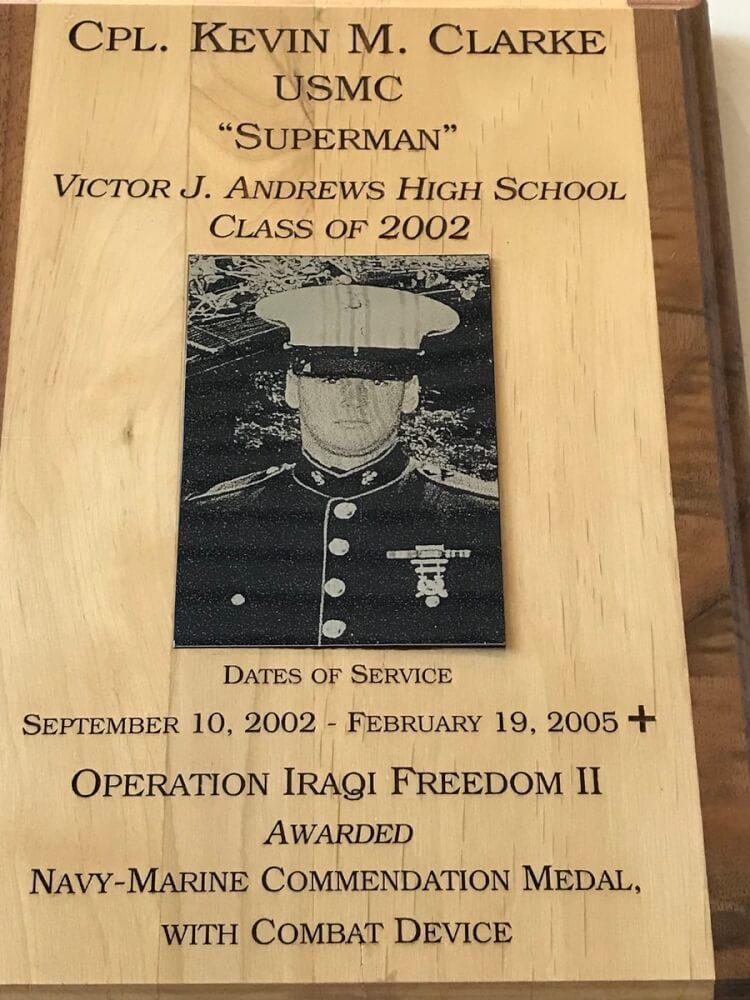 CPL Kevin M. Clarke USMC Class of 2002