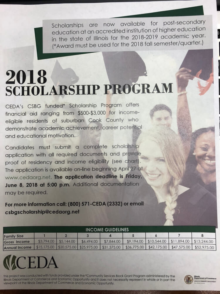 CEDA offers student scholarships for low-income families