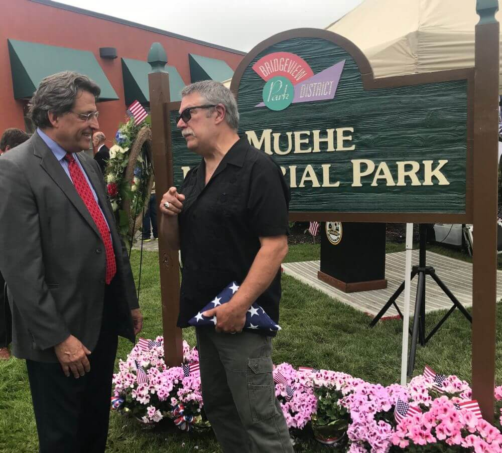 Bridgeview rededicates Muehe Park