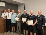 Cardiac victim survives to thank Life Time employees and OFPD