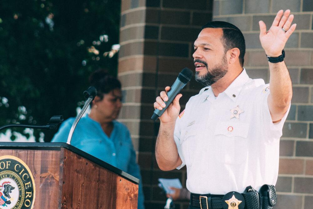 Cicero Chaplain Ismael Vargas. Photograph by Juan Mojica / JAM1PHOTO