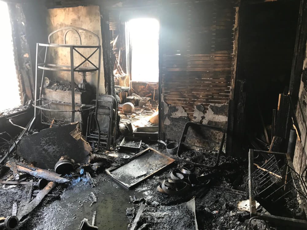 Cicero fire damages 3 story apartment building Sunday August 19, 2018. Photo courtesy of the Cicero Fire Department
