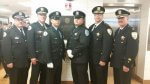 Luis Duarte (3rd from left) with members of the Cicero Police Department. Photo courtesy of the Town of Cicero