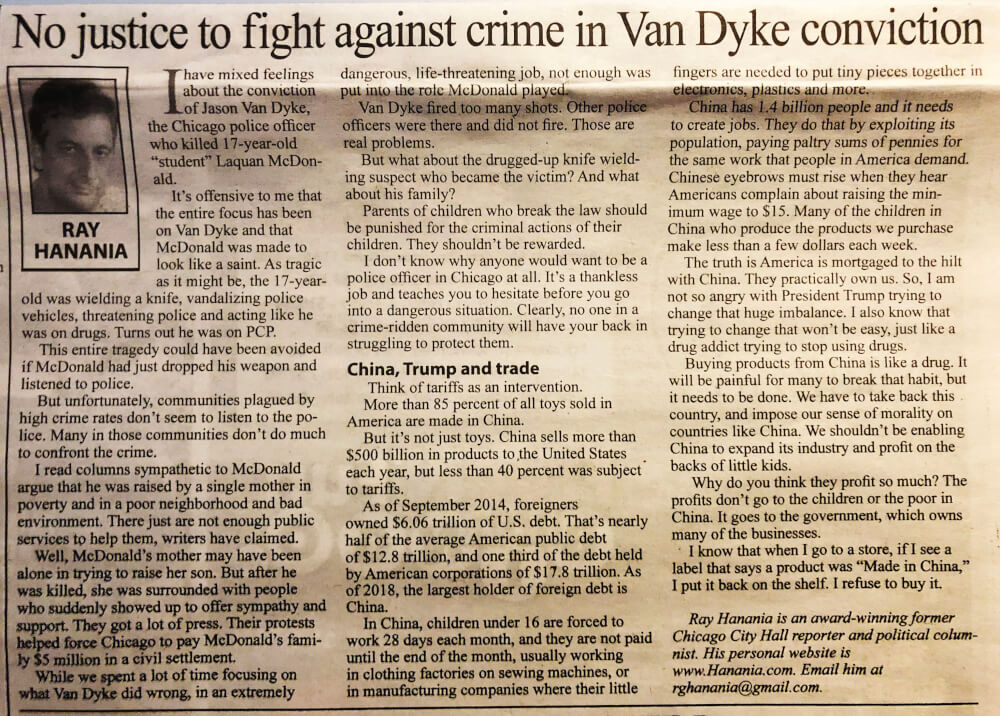 No justice in fight against crime in Van Dyke conviction
