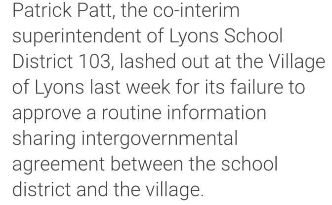 School leader makes Political attacks against Village President