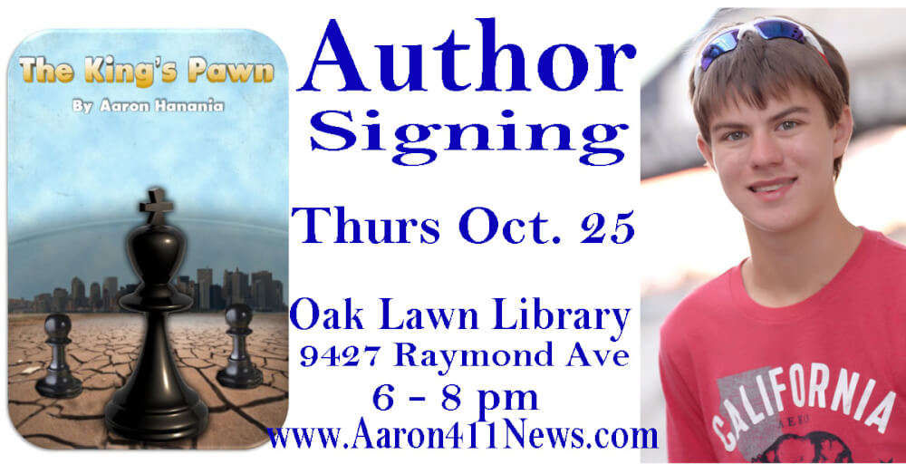Aaron Hanania author signing Oct. 25, 2018 The King's Pawn Oak Lawn Library