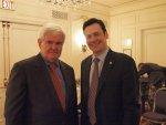 William J. Kelly Newt Gingrich. Photo courtesy of William J. Kelly for Chicago Mayor campaign